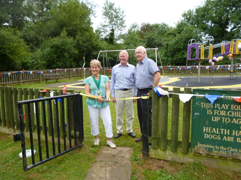 <p>Woodland Avenue playground being opened on 28th June 2013 by Councillors Mrs Oxtoby and Graeme and the Treasurer of the Hartley Community Group, Lawrence Vesey.</p>